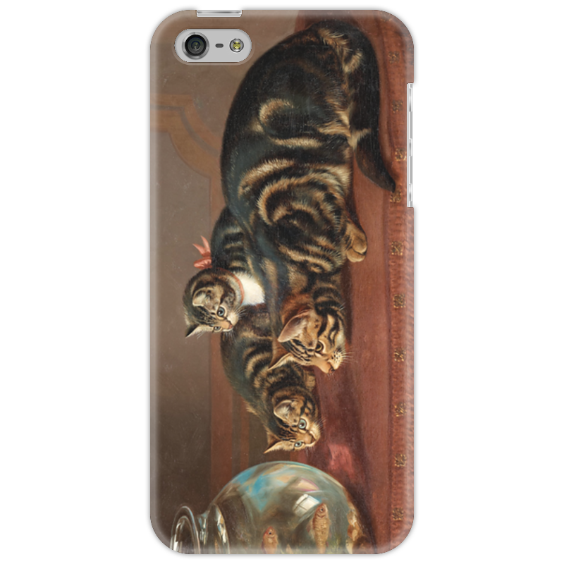 Чехол для iPhone 5 Printio Cats by a fishbowl