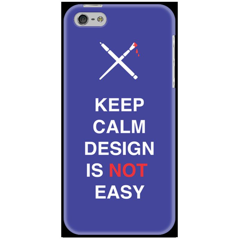 Чехол для iPhone 5 Printio Keep calm design is not easy. sahar cases чехол keep calm and love me iphone 5 5s 5c