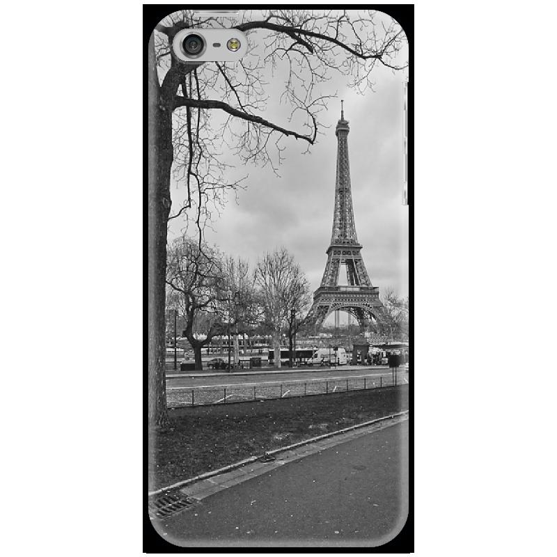 Чехол для iPhone 5 Printio Парижский пейзаж цена