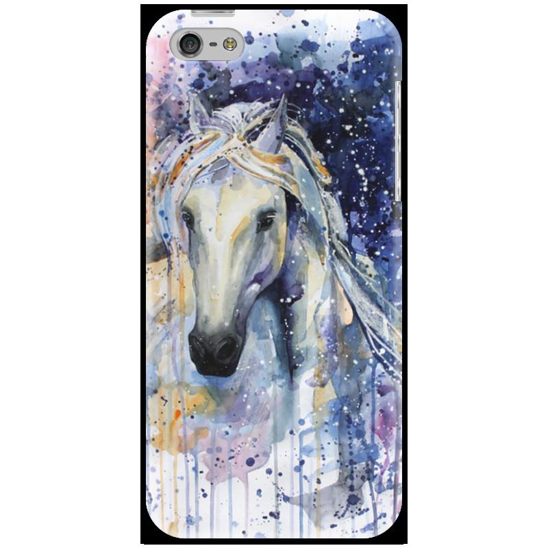 Чехол для iPhone 5 Printio И только лошади летают вдохновенно... чехол для iphone 5 printio brain salt