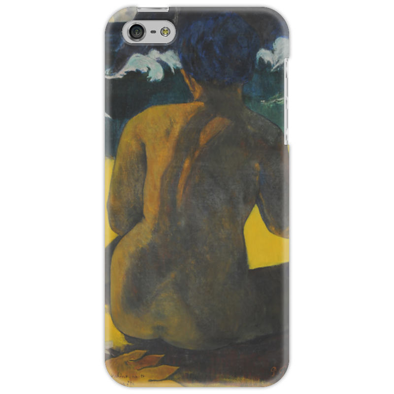 Чехол для iPhone 5 Printio Woman on the beach (картина поля гогена)