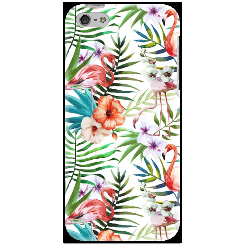 Чехол для iPhone 5 Printio Фламинго чехол для карточек фламинго и ананас с усами дк2017 101