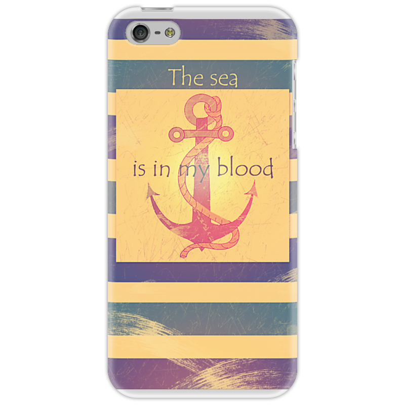 Чехол для iPhone 5 Printio Якорь the sea is in my blood стулья для салона sea show