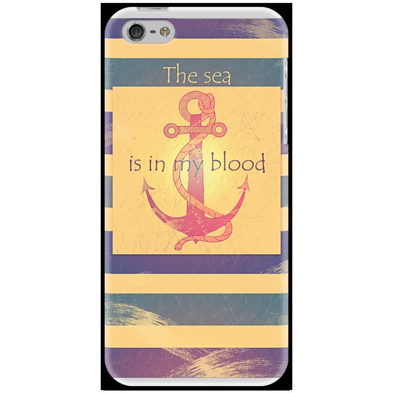 Чехол для iPhone 5 Printio Якорь the sea is in my blood kids in glass houses in gold blood