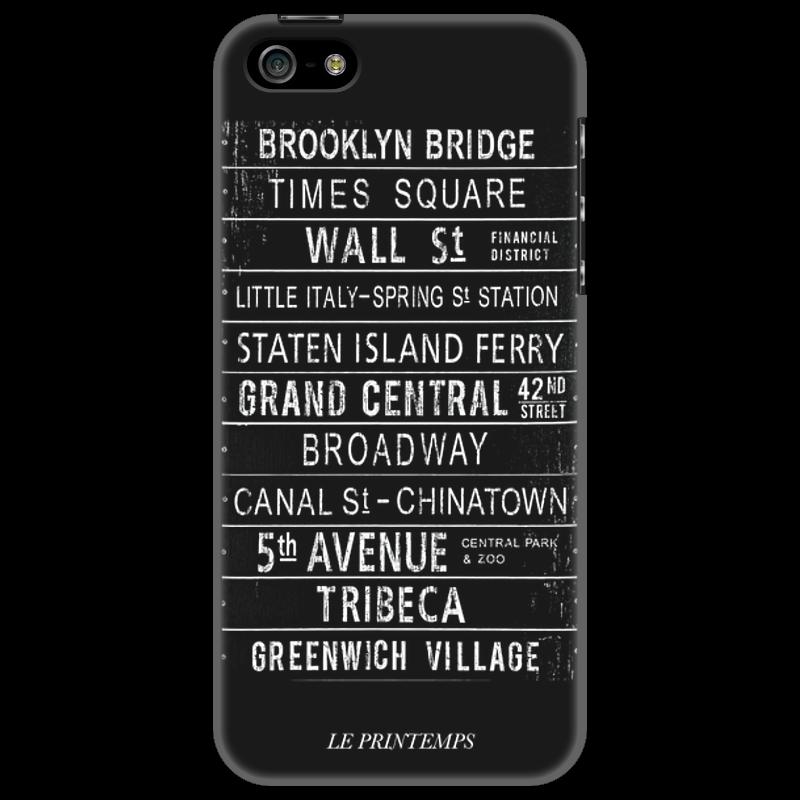 Чехол для iPhone 5 Printio New york city чехол fonexion city girls для iphone 5s 5 зеленый