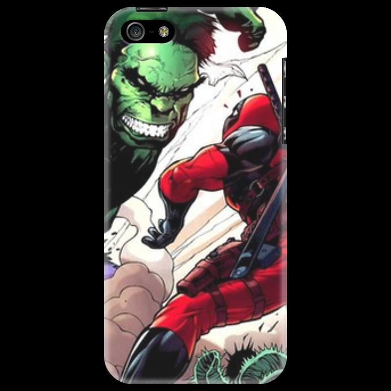Чехол для iPhone 5 Printio deadpool versus hulk стоимость