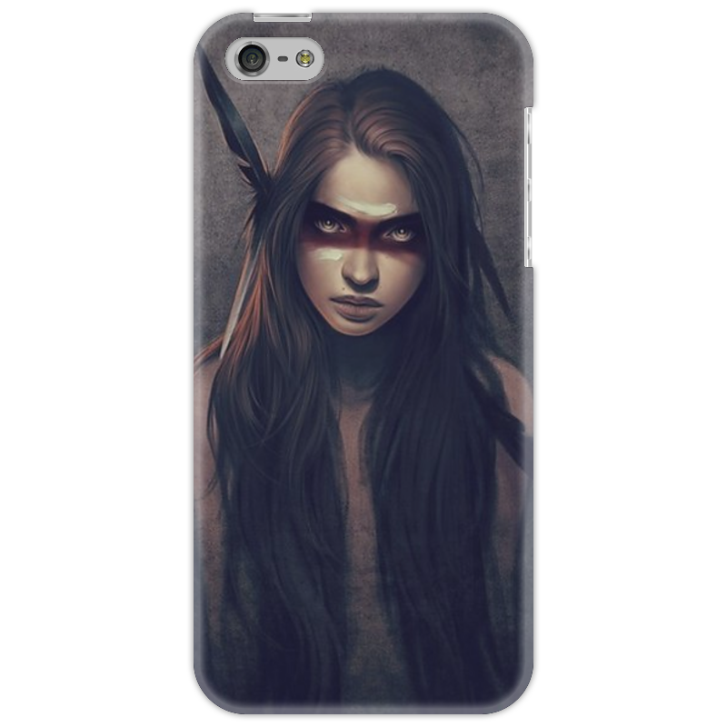 Чехол для iPhone 5 Printio Девушка-индеец чехол для iphone 5 printio чехол для iphone девушка