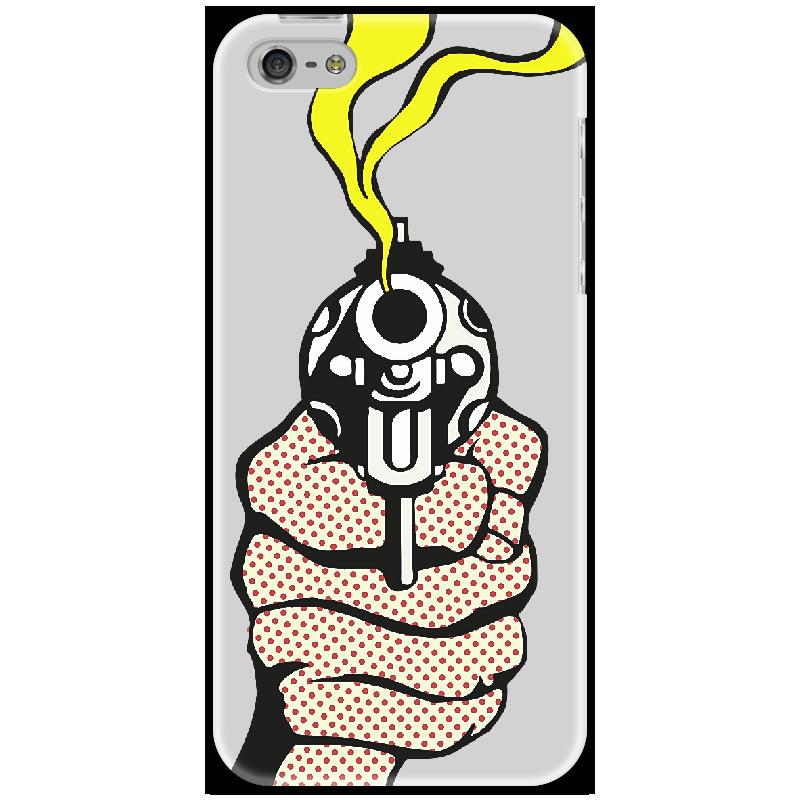 Чехол для iPhone 5 Printio Lichtenstein gun fiskars 111340