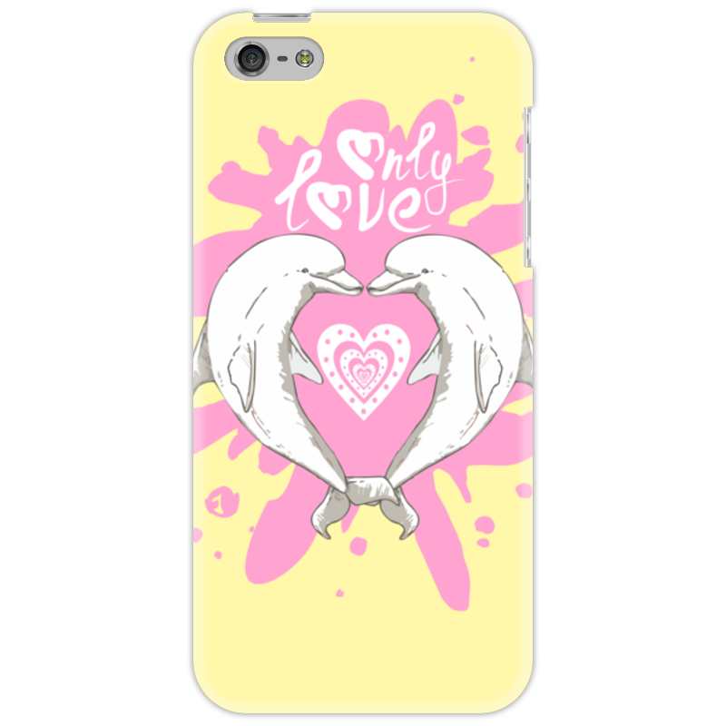Чехол для iPhone 5 Printio Влюбленные дельфины наклейка для интерьера дельфины