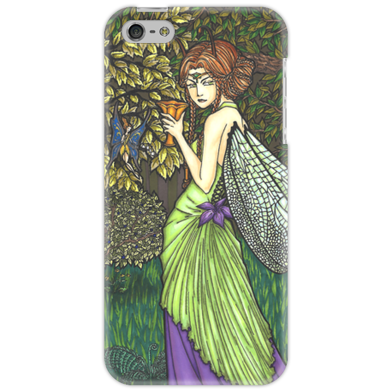 Чехол для iPhone 5 Printio Титания, королева фей