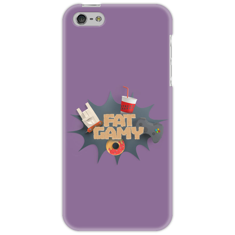 Чехол для iPhone 5 Printio Fatgamy iphone 5 чехол для iphone 6 глянцевый printio fatgamy iphone 6