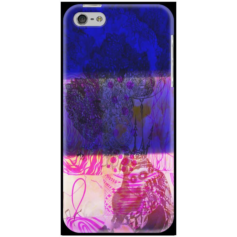 Чехол для iPhone 5 Printio Полосатый коллаж