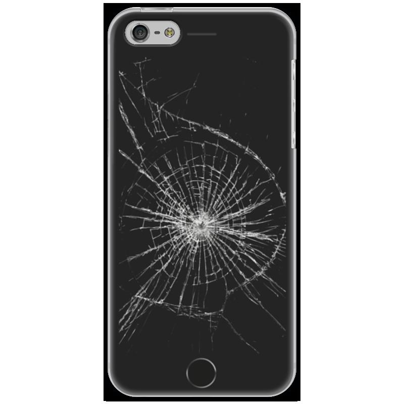 Чехол для iPhone 5 Printio Разбитый экран купить экран для iphone 4