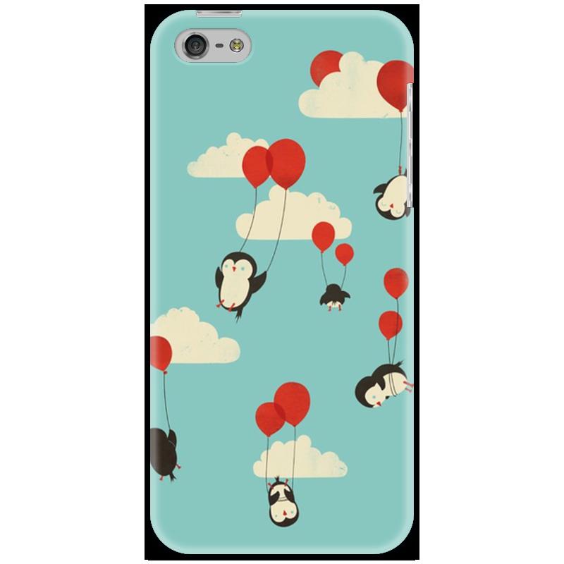 Чехол для iPhone 5 Printio Пингвины на воздушных шариках guerlain meteorites perles пудра для лица в шариках 2 розово бежевый