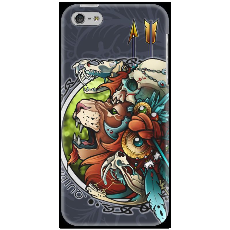 Чехол для iPhone 5 Printio Лев-воитель воитель