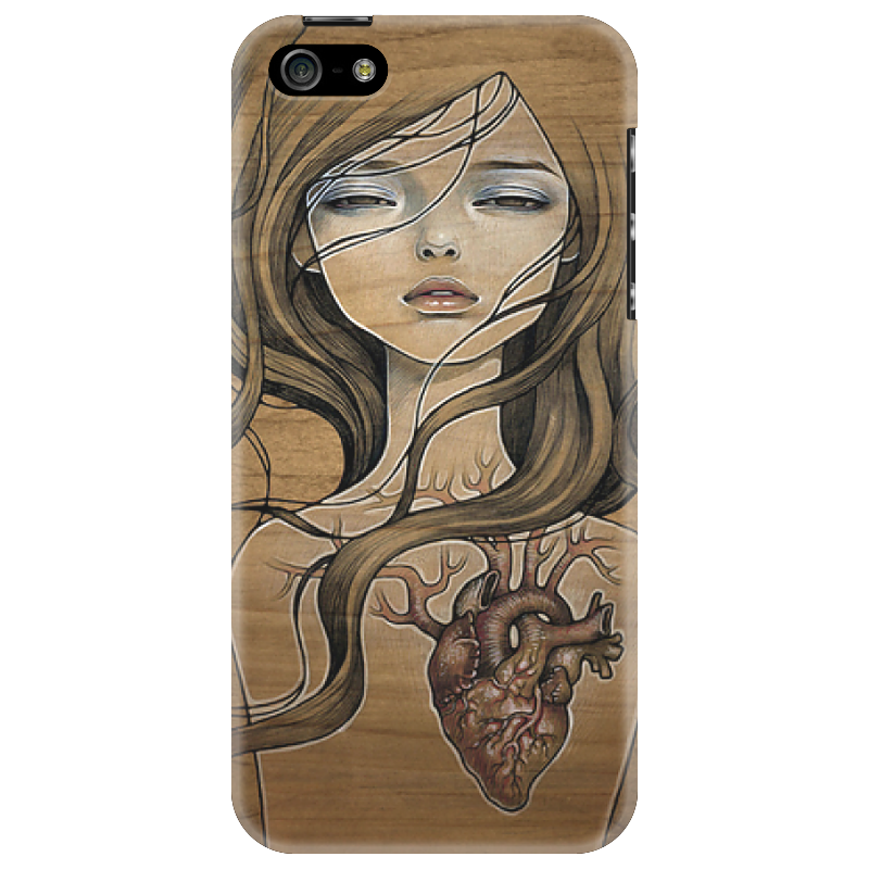 Чехол для iPhone 5 Printio Heart_black банку прямотока на кавасаки