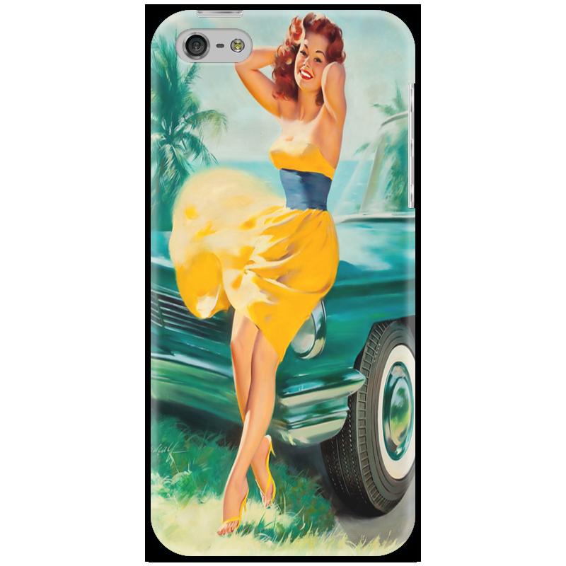 Чехол для iPhone 5 Printio Девушка у машины брелок для машины рено