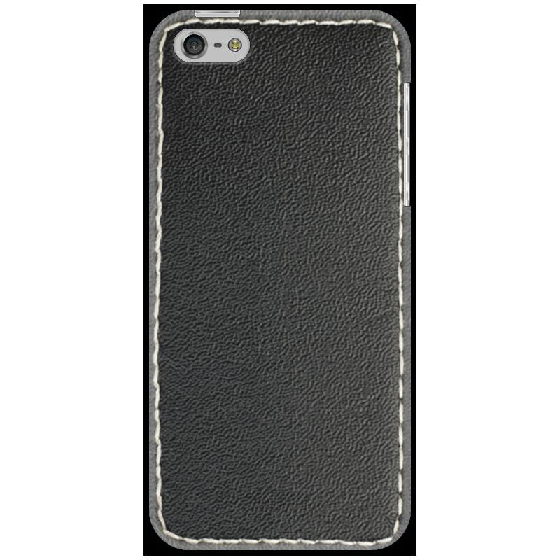 Чехол для iPhone 5 Printio Кожа с прошивкой чехол для муха iq446 кожа iq446 роскошь полиуретан открытая вверх и пуховик черный белый розовый цвет