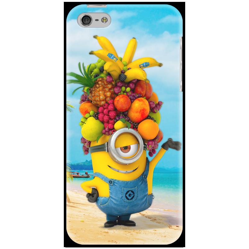 Чехол для iPhone 5 Printio Миньон банана 2 чехол для iphone 6 глянцевый printio миньон с бананом гадкий я