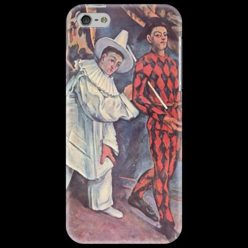 "Чехол для iPhone 5 ""Пьеро и Арлекин"" - картина, сезанн"