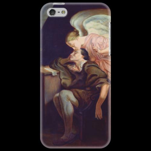 "Чехол для iPhone 5 ""Поцелуй Музы"" - картина, сезанн"