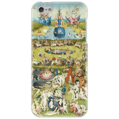 """Чехол для iPhone 5 """"Сад земных наслаждений"""" - картина, сад, искусство, босх"""
