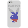 """Чехол для iPhone 5 """"Playboy Россия"""" - playboy, россия, плейбой, зайчик, плэйбой"""