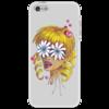 """Чехол для iPhone 5 """"Без ума от цветов"""" - любовь, девушка, цветы, сердца, блондинка"""