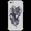 "Чехол для iPhone 5 ""Лиловая мистерия"" - оригинально, креативно, мистика"