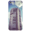 """Чехол для iPhone 5 """"Облака и Дома"""" - цвета, весна, оригинально, облака, здания"""