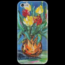 """Чехол для iPhone 5 """"Букет"""" - любовь, весна, красота, букет, тюльпан"""