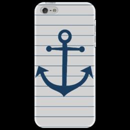 """Чехол для iPhone 5 """"Якорь"""" - любовь, арт, стиль, в подарок, парню, sailor, anchor, sea, морской, marine"""