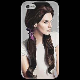 """Чехол для iPhone 5 """"Чехол с нарисованным изображением певицы """" - девушка, lana del ray"""
