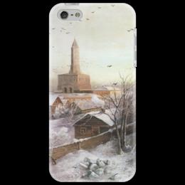 "Чехол для iPhone 5 ""Сухарева башня"" - картина, саврасов"