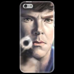"Чехол для iPhone 5 ""Sherlock 4"" - арт, sherlock, шерлок, bbc, sherlock holmes"