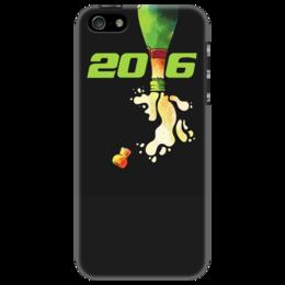 """Чехол для iPhone 5 """"Новый год! 2016!"""" - праздник, новый год, рисунок, подарок, денис гесс"""