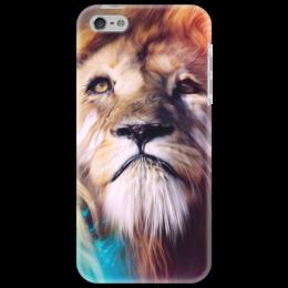 """Чехол для iPhone 5 """"Царь зверей"""" - лев, краски, царь зверей, грива"""