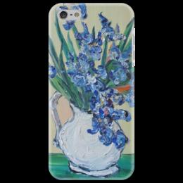 """Чехол для iPhone 5 """"Красота"""" - ирисы, подарок, красивый, ван гог, в кувшине"""