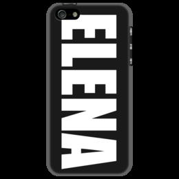 """Чехол для iPhone 5 """"с именем Елена"""" - чехол с именем, чехол с именем елена, елена"""