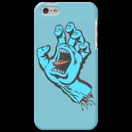 """Чехол для iPhone 5 """"Santa Cruz"""" - santa, cruz, рука со ртом"""