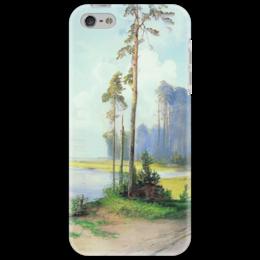 """Чехол для iPhone 5 """"Летний пейзаж. Сосны."""" - картина, саврасов"""