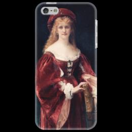 """Чехол для iPhone 5 """"Портрет аристократки из Венеции"""" - картина, кабанель"""