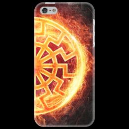 """Чехол для iPhone 5 """"ПЛАМЯ!!!"""" - солнце, огонь, коловрат, славяне, перун"""