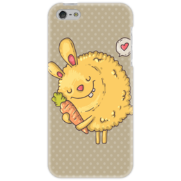 "Чехол для iPhone 5 ""Кролик "" - сердце, кролик, морковь, in love"