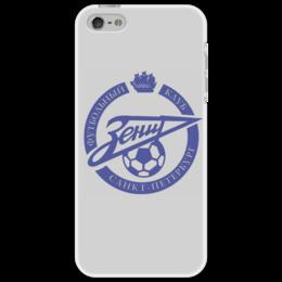 """Чехол для iPhone 5 """"Зенит"""" - футбол, терек, фанатская, рфл, ногомяч, рубин, гусев, зенит, санкт-петербург"""