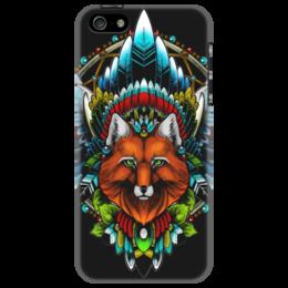 "Чехол для iPhone 5 ""Лиса шаманка"" - арт, fox, native, shaman"
