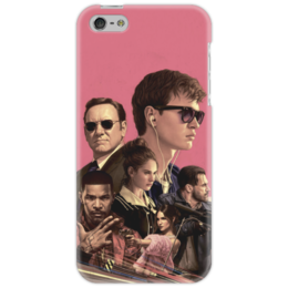 """Чехол для iPhone 5 """"Baby Driver"""" - музыка, девушки, знаменитости, оружие, малыш на драйве"""