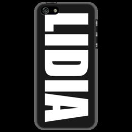 """Чехол для iPhone 5 """"с именем Лидия"""" - чехол с именем, чехол с именем лидия, лидия"""