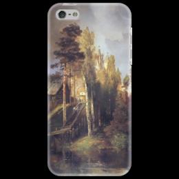 """Чехол для iPhone 5 """"Монастырские ворота"""" - картина, саврасов"""