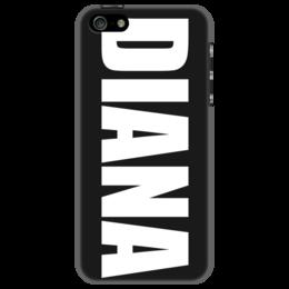 """Чехол для iPhone 5 """"с именем Диана"""" - диана, чехол с именем, чехол с именем диана"""